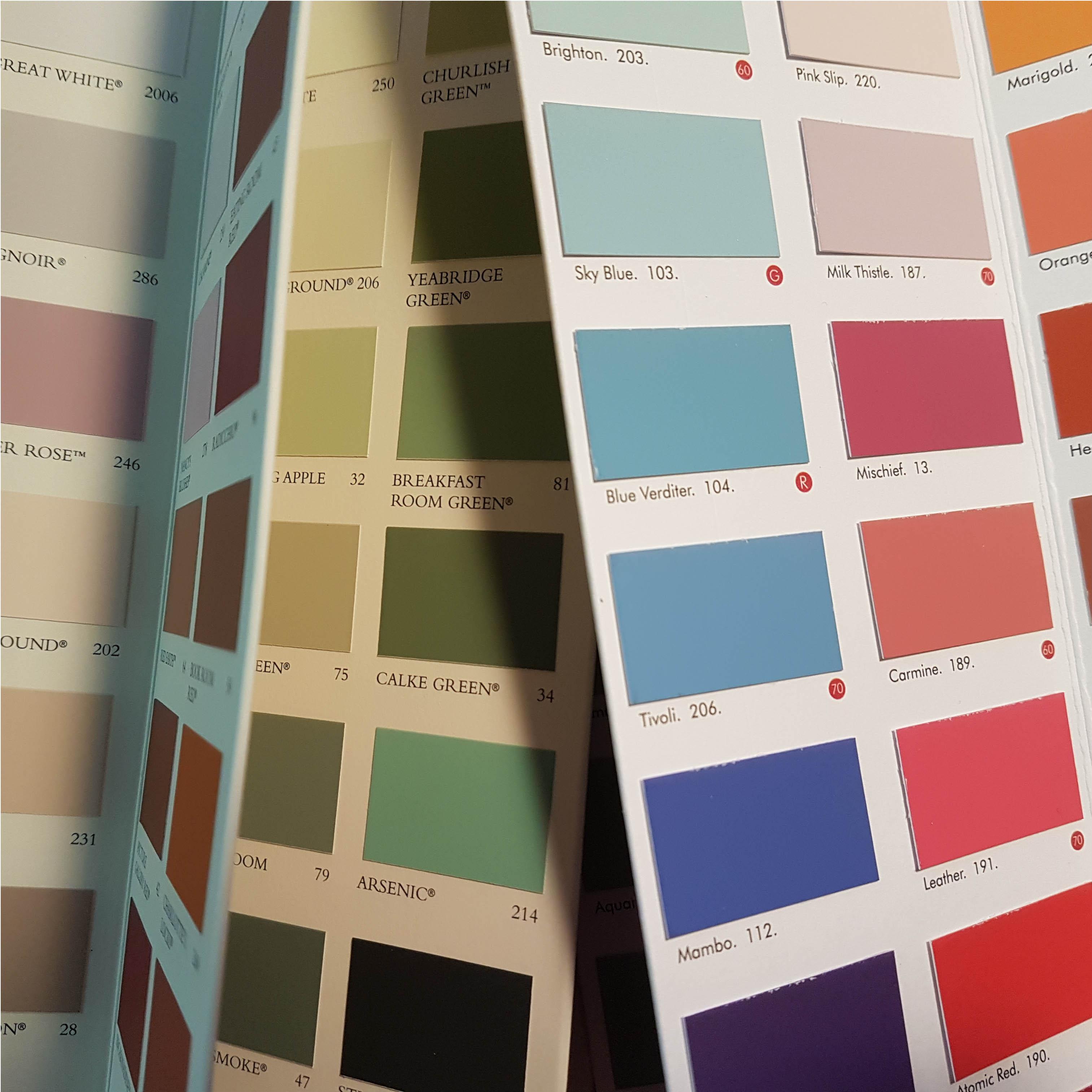 Kleurenwaaier foto voor kleuradvies