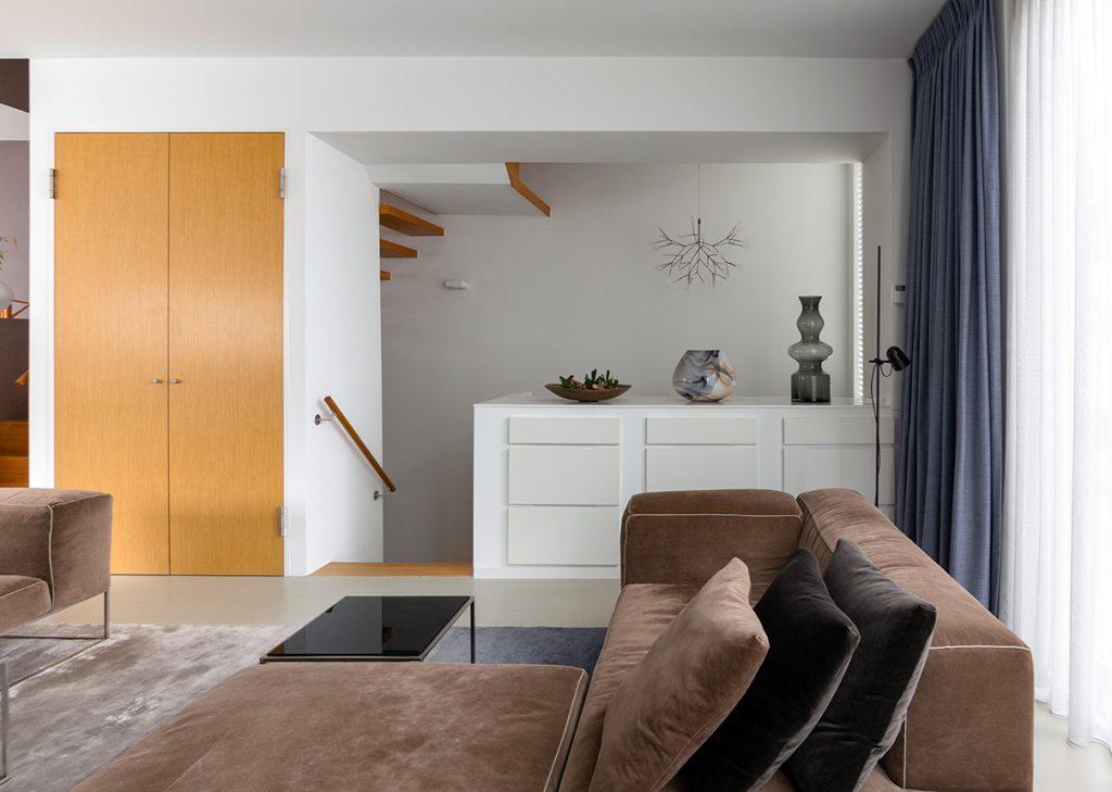 Zithoek richting entree Italiaans Design  interieurplan Nieuw Leiden