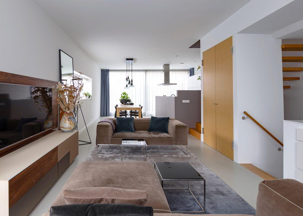 Zithoek interieurplan Italiaans Design  Nieuw Leiden